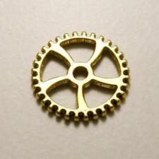 Perle en métal breloque engrenage 5 rayons Ø17mm couleur or (x 1)
