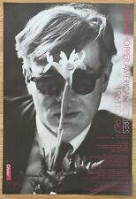 DENNIS HOPPER Original Photography Exhibition Poster ANDY WARHOL with Flowers