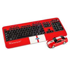 Mustang GT wireless mouse and keyboard combo officially licensed-red