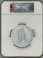 2010 P 25c 5 oz Specimen Silver ATB America Beautiful - Hot Springs SP69 NGC