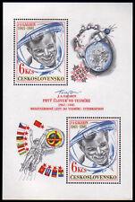Tschechoslowakei  Bl. 43 **, 20. Jahrestag 1. bemannter Weltraumflug-Gagarin