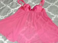 Sexy Little Things Victoria's Secret Lingerie Nightie Babydoll 36B Sheer EUC VS