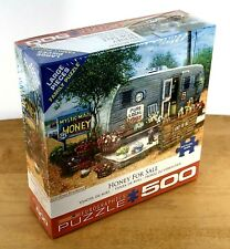 Eurographics Honey for Sale 500 Piece Jigsaw Puzzle Camper Dog Flowers Route 66
