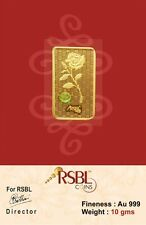 RSBL eCoins 10 gm Gold Bar 24 kt purity 999 Fineness - WITH TAX INVOICE