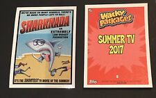 Sharknada Wacky Packages 2017 Garbage Pail Kids Summer TV Sticker #6 140cc