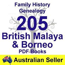 Family History Tree Genealogy England Malaya Borneo 205 Old Historic Books DVD
