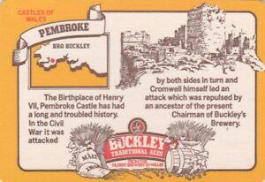 UNUSED BEERMAT- BUCKLEYS BREWERY - PEMBROKE - (Cat 050) - (1983)
