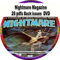 26 pdfs Nightmare Magazine horror and dark fantasy magazine DVD
