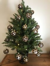 6 x Leopard Print. Baubles. Animal print. Christmas. Weddings. Decorations.