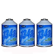 3 CANS New Johnsen's  R-134a AC Refrigerant + UV Dye Glow Charge 12oz Can