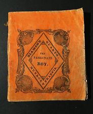 x RARE ONLY KNOWN COPY - Passionate Boy 1830 Illustrated Miniature Book - Boston