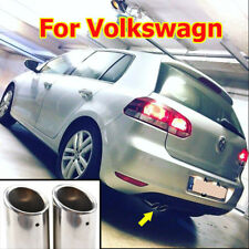 FOR VW GOLF 5 6 MK6 7 MK7 EXHAUST MUFFLER TIP TAIL PIPE END TRIM FINISHER CHROME
