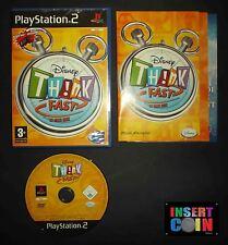 JUEGO  DISNEY THINK FAST (PAL FRANCIA/FRENCH)  PLAYSTATION 2   PS1 PS2 PS3