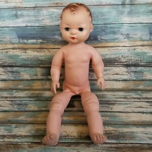 """Vintage Magic Skin Rubber Doll 19"""" Unmarked 1940s Baby Doll"""