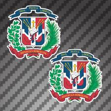 2x Dominican Coat of Arms Sticker vinyl flag Die Cut Decals graphic DOM Republic