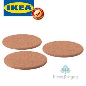 "IKEA HEAT Trivet Cork 7"" 3 PACK"