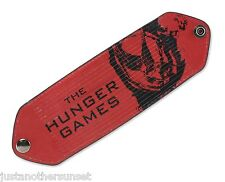 "Hunger Games Slit Cuff Bracelet Burning Mockingjay Red Black 2.5""x7"" New NECA"