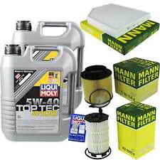 Inspection Kit Filter Liqui Moly Oil 10L 5W-40 for Audi A5 8T3