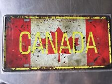 Canada Vintage Metal Car Decorative License Plate United States Home Decor Signs