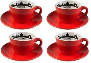 4 Stück Jacobs Tassimo Kaffeetasse City Range Kaffeetasse mit Untersetzer Paris