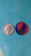 Grateful Dead  Red, Blue & Gold Steal Your Face SYF Heavy Vinyl 1 Inch Sticker