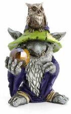 Miniature Fairy Garden Wizard & Owl Troll w/ Gazing Ball - Buy 3 Save $5
