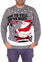 Bad Santa Funny Chimney Christmas Sweater Mens Rude Ugly Xmas Day Party