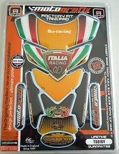 Td010y, Motografix-Revêtement de réservoir, tankprotektor pour Ducati, Italia Racing, jaune