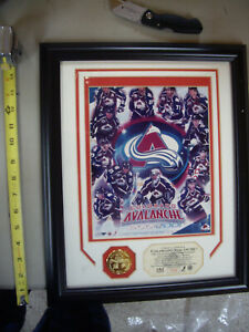 "COLORADO AVALANCHE 2001 STANLEY CUP CHAMPIONS FRAMED PICTURE 16""x13"" PHOTO FILE"