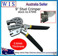 "9"" Single Hand Keel Stud Crimper Forceps Metal Punch Lock Drywall Hand Tool47996"