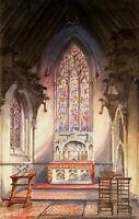 Stunning 1862 Thorndon Park Chapel Petre Essex antique watercolour painting RARE