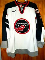 Vintage and Authentic Nike USA Olympic Team Hockey Jersey, Size: Medium
