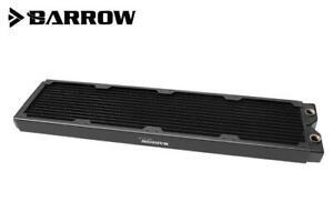 Barrow Dabel-A Series 480mm (4x120) Slim Line Copper Radiator - Black