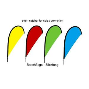 Beachflag über 2m hoch Blickfang Werbefahne Event Fahnen bunte Flaggen