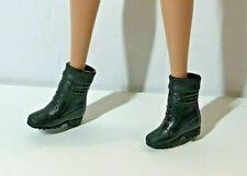 NEW  SHOES for BARBIE DOLL, BLACK ANKLE HIGH BOOTS, ACCESSORY ITEM