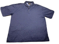 🇺🇸 Tommy Hilfiger Golf Polo Blue Striped Rugby Sz XL Mercerized Cotton 🇺🇸