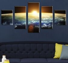 Modern Abstract Oil Painting Wall Decor Art Huge - Sun and Earth Universe 5PCS