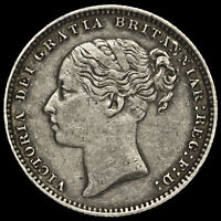 1883 Queen Victoria Young Head Silver Shilling