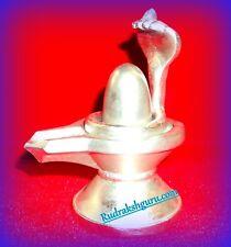 Parad Shivling / Mercury Shivling / Padrasam Shivlingam - 575 gm (With Snake)