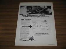 1966 Vintage Ad Yale Lift Trucks Hi-Lo Maintenance Crew Working