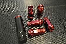 Extended Red Steel lug nuts toyota mazda eg gsr civic integra 12x1.5