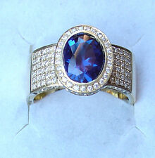 Traum Saphir Ring 138 BRILLANTEN VK 8800 € alle Ringgrößen