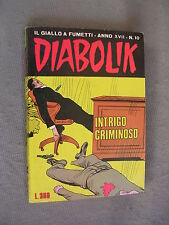 DIABOLIK ORIGINALE ANNO XVII n° 10 - 1978 - RARO - OTTIMO
