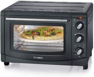 SEVERIN TO 2068 Backofen /  Pizzaofen mit Umluftfunktion Grill Ofen 1500W, 20L