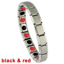 Men Stainless Steel Therapy Energy Magnetic Bracelet Pain Relief Health Care