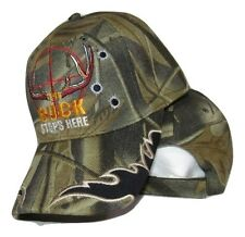 The Buck Stops Here Hunting Deer Camo Camouflage Embroidered Cap Hat