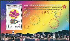 Hong Kong - Gründung Sonderverwaltungszone Block 56 postfrisch 1997 Mi. 825