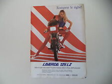advertising Pubblicità 1983 MOTO LAVERDA 125 LZ