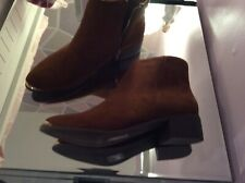 Ladies. Tan swede. Ankle boots 6