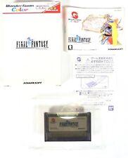 FINAL FANTASY Bandai Wonderswan Color Jap Japan (3)